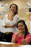 Taller a cargo de Olga Parra y Viviana Díaz. Fotografías Gonzalo Benavides